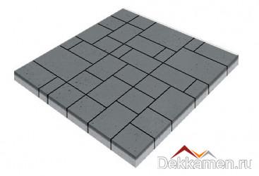 Тротуарная плитка 60мм Инсбрук Альпен серый, Steinrus