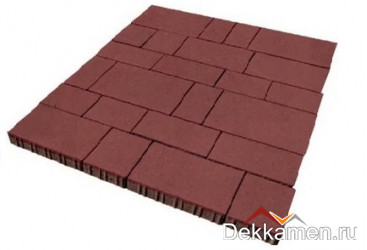 Тротуарная плитка  Инсбрук Тироль 60мм красный , Steinrus