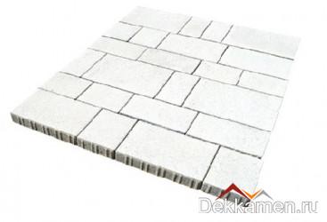 Тротуарная плитка 60мм Инсбрук Тироль белый, Steinrus