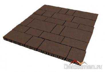 Тротуарная плитка 60мм Инсбрук Тироль коричневый, Steinrus