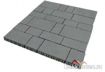 Тротуарная плитка 60мм Инсбрук Тироль серый, Steinrus