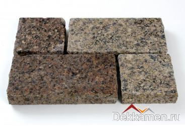 Брусчатка из натурального камня Гранит Кофе Браун, 200*100*30