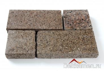 Брусчатка из натурального камня Гранит Куртинский, 200*100*30