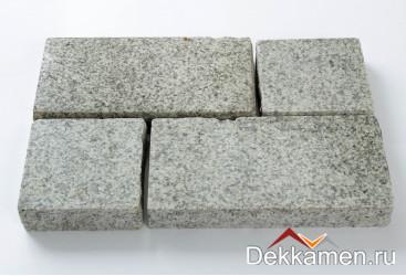 Брусчатка из натурального камня Гранит Мансуровский, 200*100*30