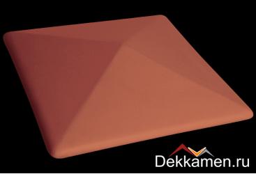 Клинкерный колпак для столбов King klinker 445*445, ruby-red 01