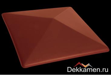 Клинкерный колпак для столбов King klinker 445*445, note of cinnamon 06