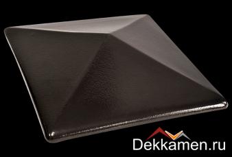 Клинкерный колпак для столбов King klinker 445*445, onyx black 17