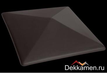 Клинкерный колпак для столбов King klinker 445*445, volcanic black 18