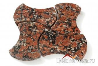 Брусчатка из натурального камня Гранит Капустинский, катушка