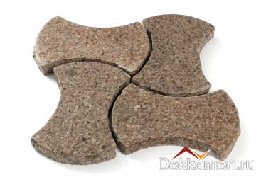 Брусчатка из натурального камня Гранит Куртинский, катушка