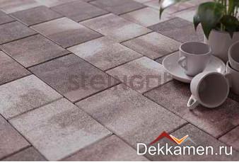 Steingot Тротуарная плитка мультиформат 60мм Color Mix  Новый Город Штайн Клифф