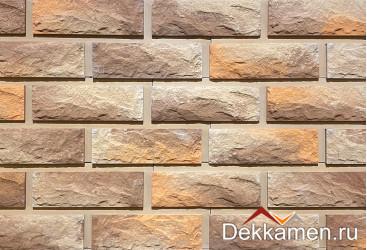 "Фасадный камень Каньон ""Сколотый кирпич"" цвет №39"