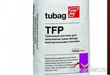 TFP Трассовый раствор для заполнения швов для многоугольных плит, темно-коричневый