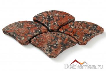 Брусчатка из натурального камня Гранит Капустинский, веер